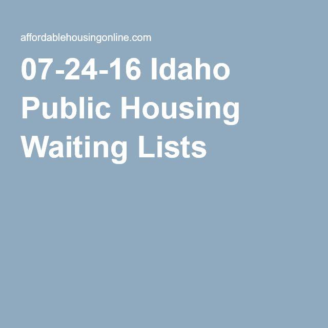 Idaho Public Housing Waiting Lists Public List Waiting