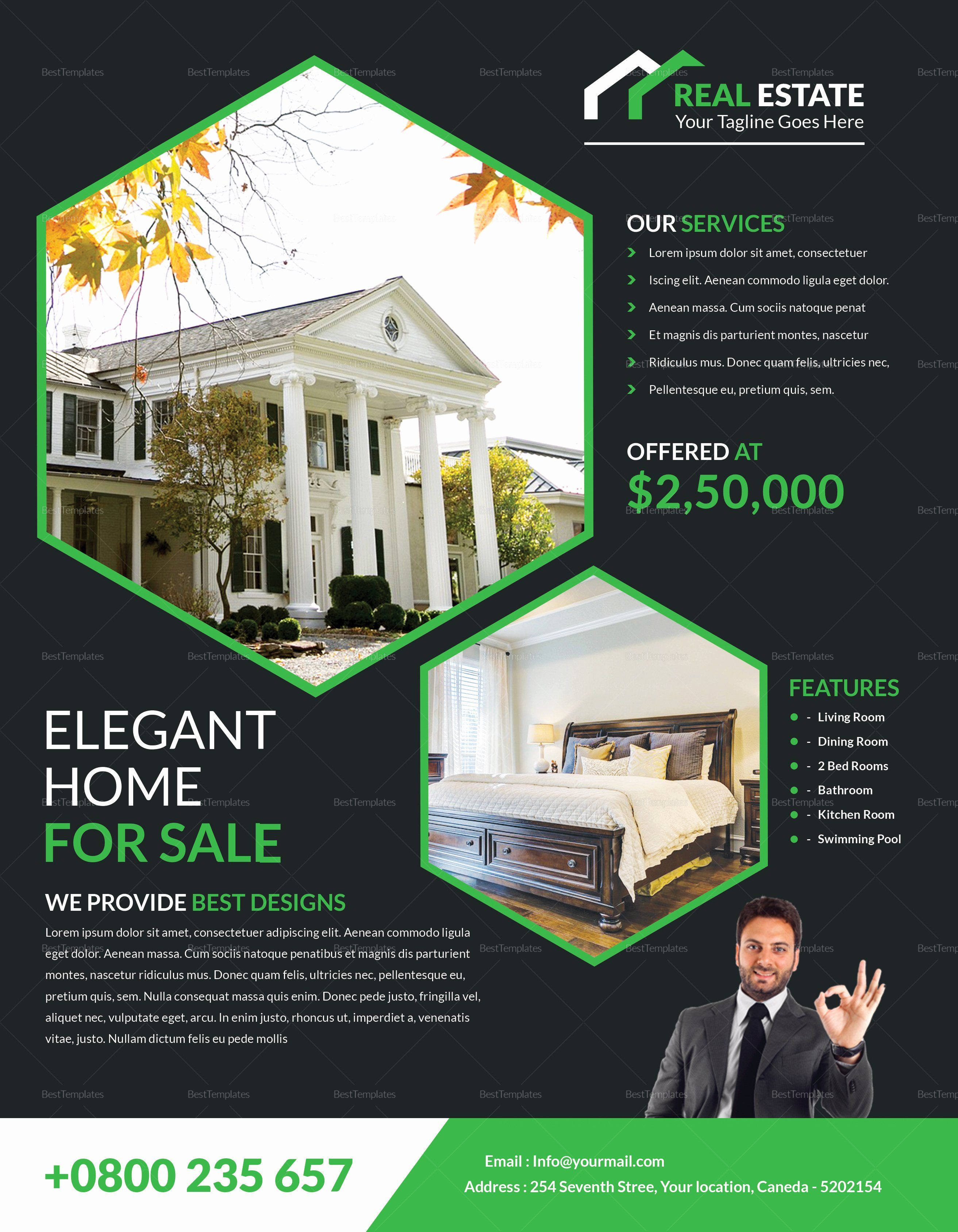 Real Estate Flyer Template Publisher Lovely Elegant Real ...
