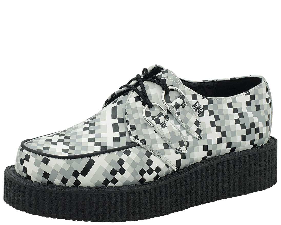 new style 2464e 2529b Pixel Low Round Creeper in 2019   Mode   Shoes, Creepers und ...