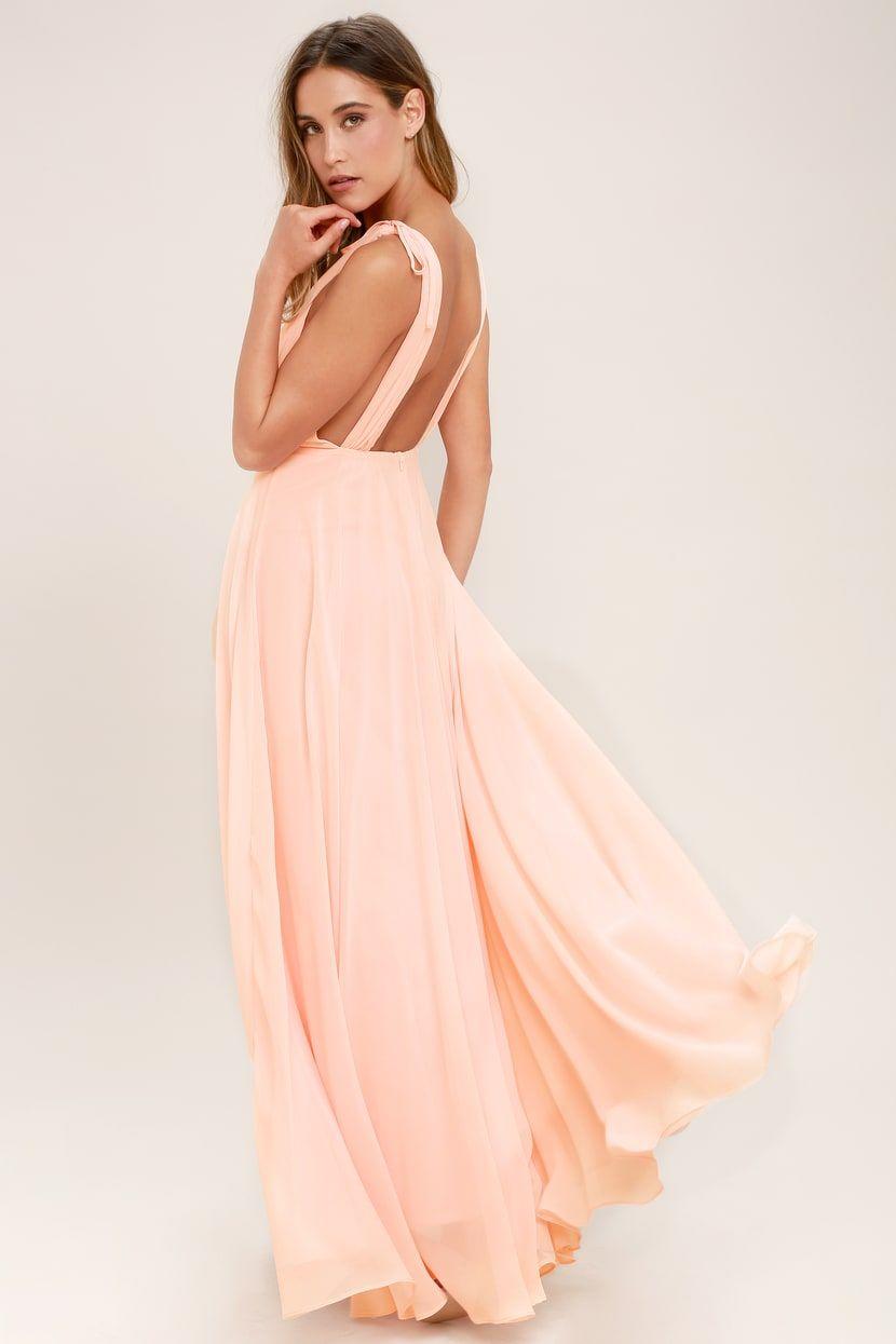 b6f68a6ff77 Lovely Blush Pink Maxi Dress - Backless Maxi Dress - Pink Gown