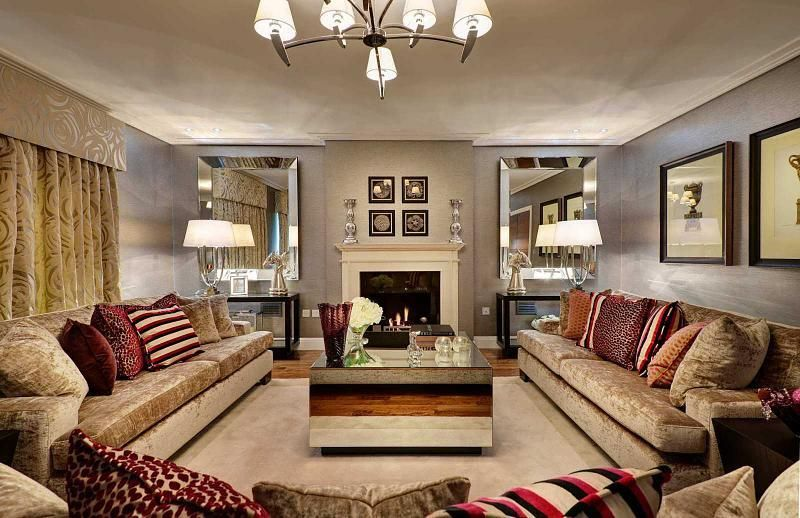 Photo Of Beige Brown Living Room Lounge With Lighting