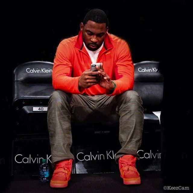 new product a4a73 33ecf  JustinTuck wearing  Nike Air Yeezy 2 Red October