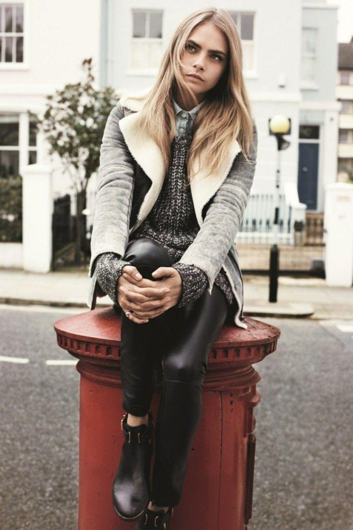 1001 looks tendance avec le pantalon en cuir femme mode lookbook travail pantalon cuir