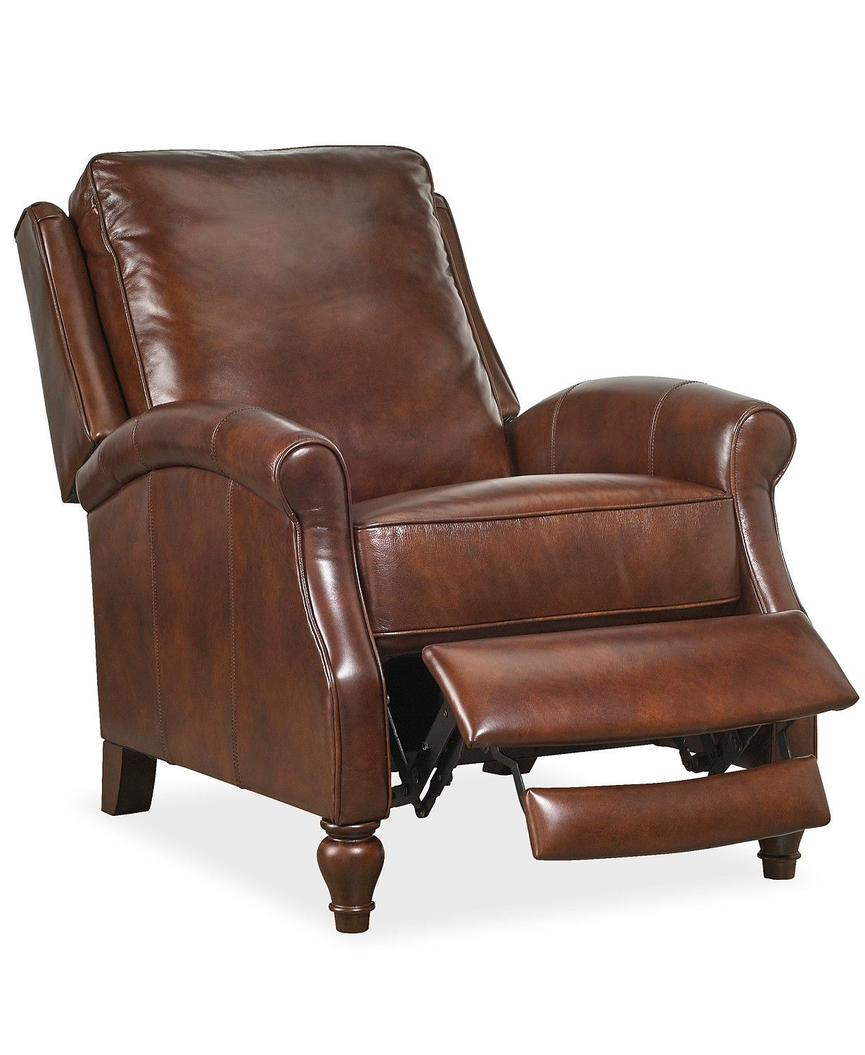 Furniture Leeah Leather Pushback Recliner & Reviews