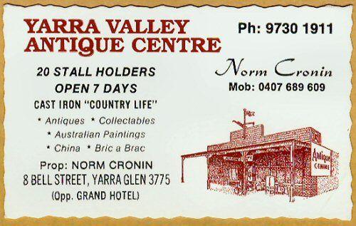 Antiques Yarra Glen