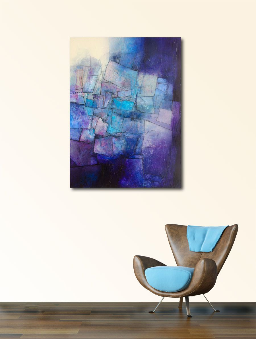 Sharon Blair: Journeying www.sharonblair.com.au - Art For Inspired Interiors - Mixed Media Artwork: Abstract - Print Available at Nick Scali