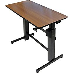 office depot sit/stand computer desk for home & office at office