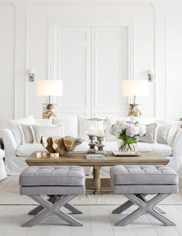 White, Taupe Grey, Living Room Part 66