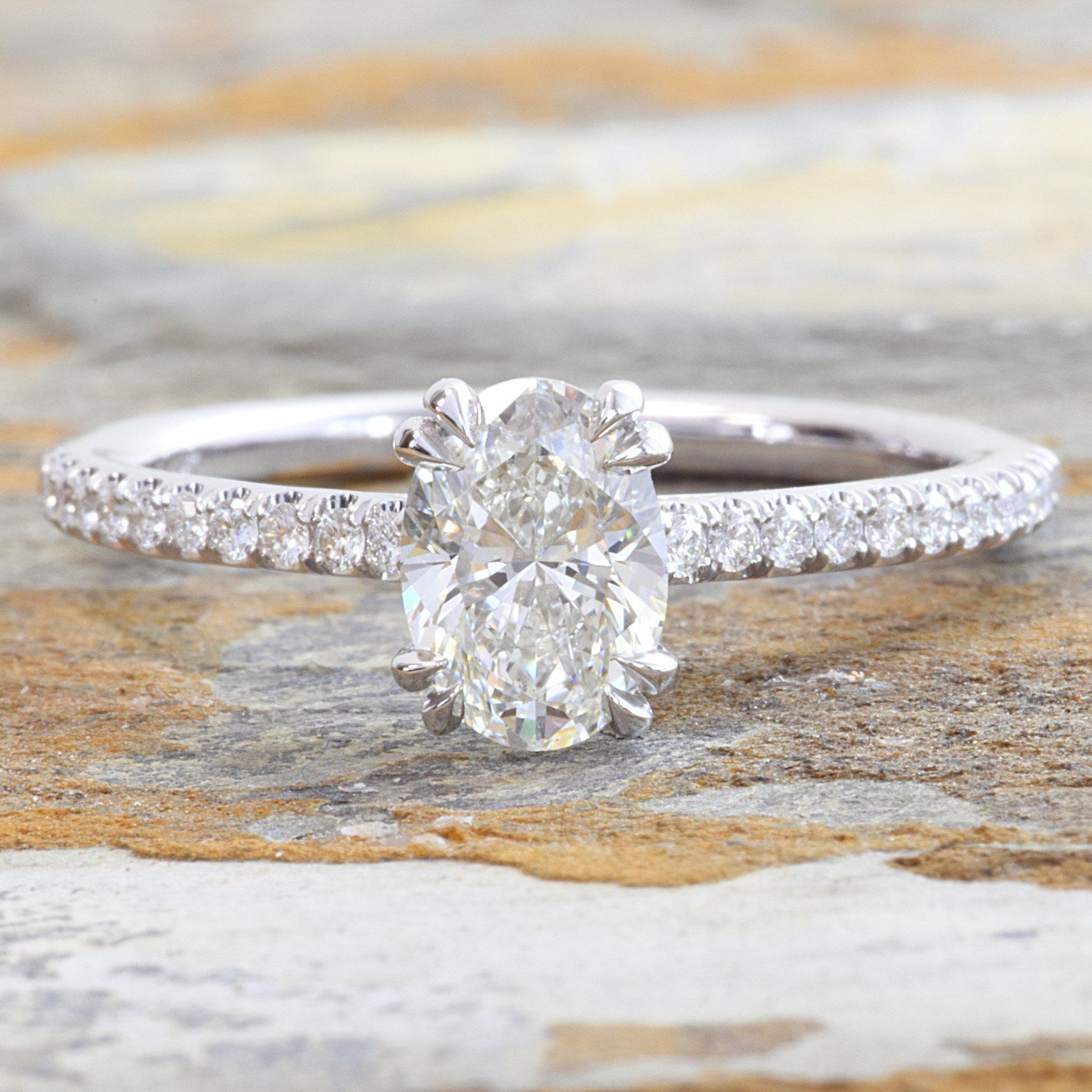 K white gold oval engagement ring oval engagement rings oval