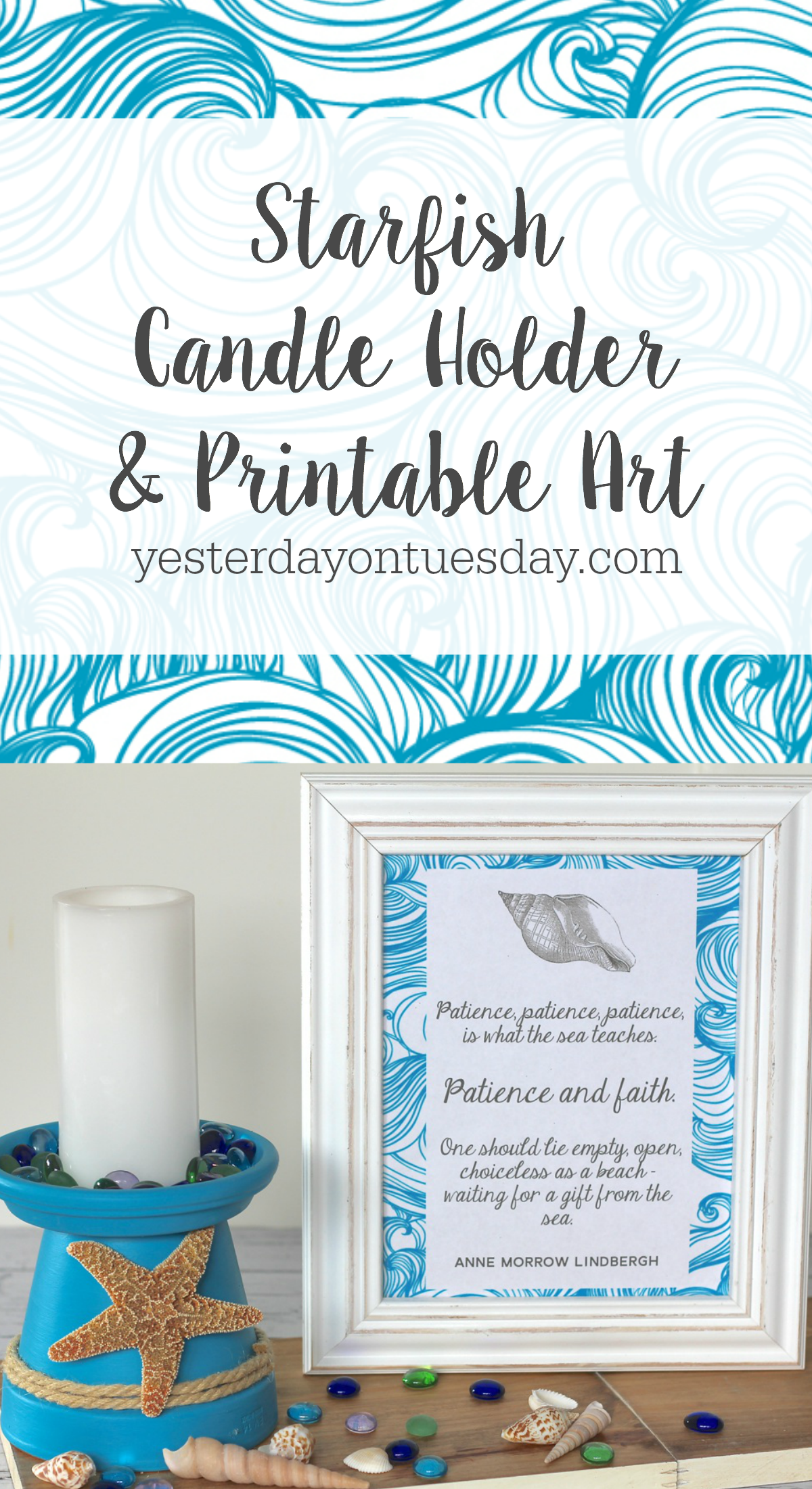 How to diy a starfish candle holder out of a flower pot a easy how to diy a starfish candle holder out of a flower pot a easy beachy craft and decor project plus lovely printable inspirational art solutioingenieria Gallery