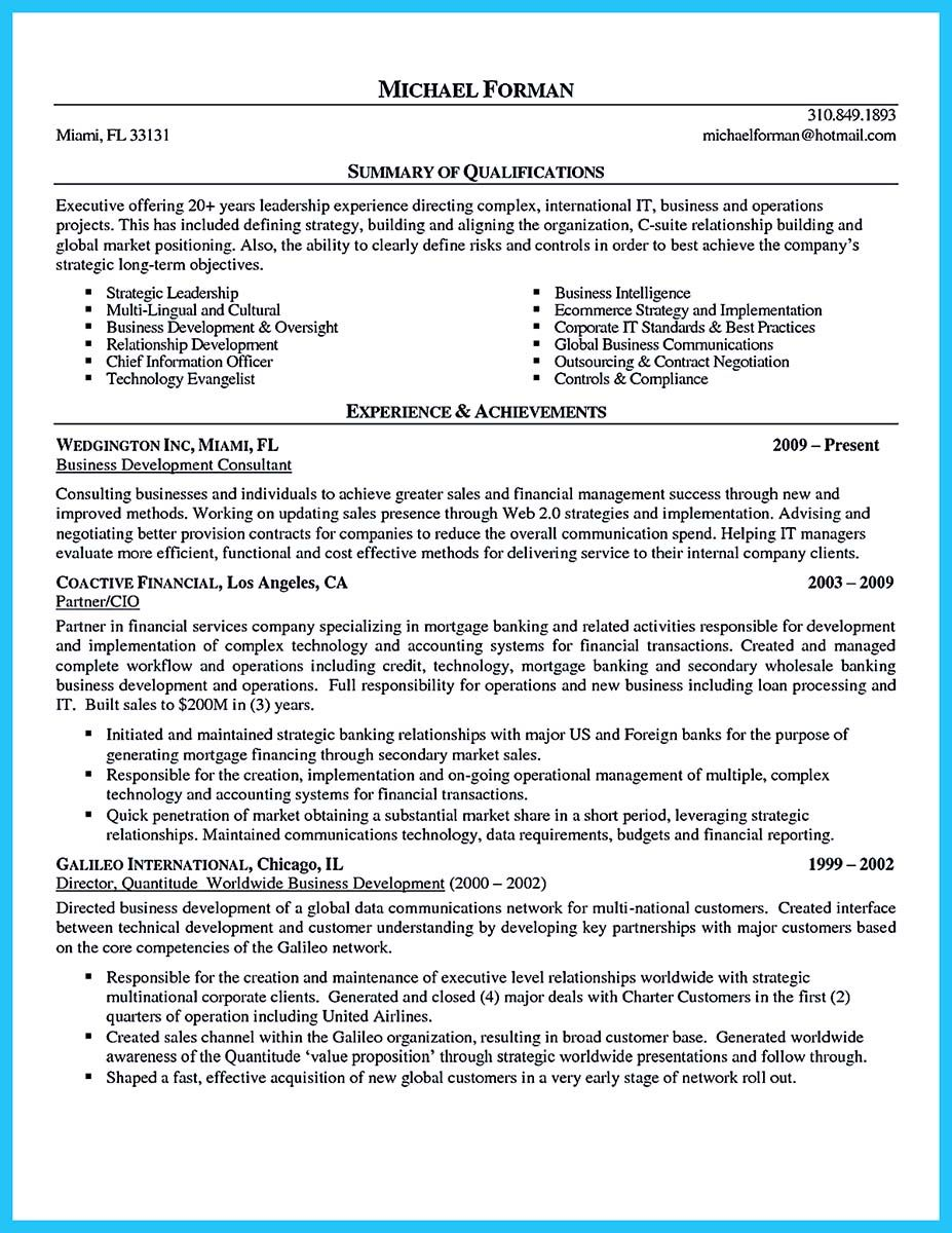 Business Resume Templates Cool Incredible Formula To Make Interesting Business Intelligence