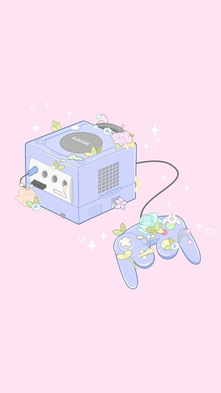 Fondo floreciente de GameCube. kawaii wallpaper
