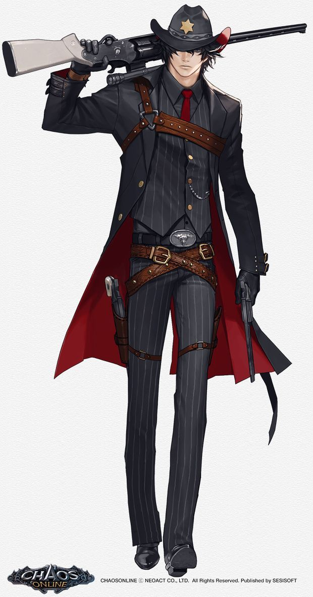Cowboy Modern Character Design Male Character Design