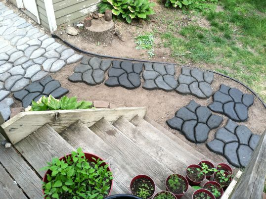 diy cement rocks pathway | cobblestone | House Struck