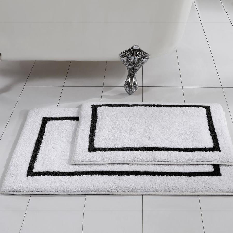 Amrapur Overseas 2pk Reversible Stripe 34 In X 21 In Cotton Bath Rug Lowes Com In 2020 Striped Bath Mats Bath Rugs Sets Black Bathroom Rug