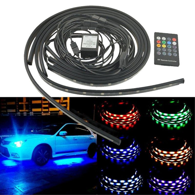 4x car rgb led strip light 5050 smd led strip lights under car tube 4x car rgb led strip light 5050 smd led strip lights under car tube underglow underbody aloadofball Gallery