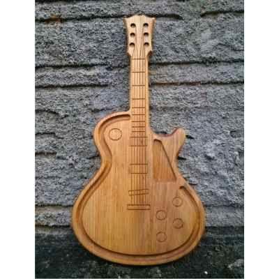fd24490e07 Tábua De Carne Churrasco Placa Madeira Guitarra Musica Rock - R  94 ...