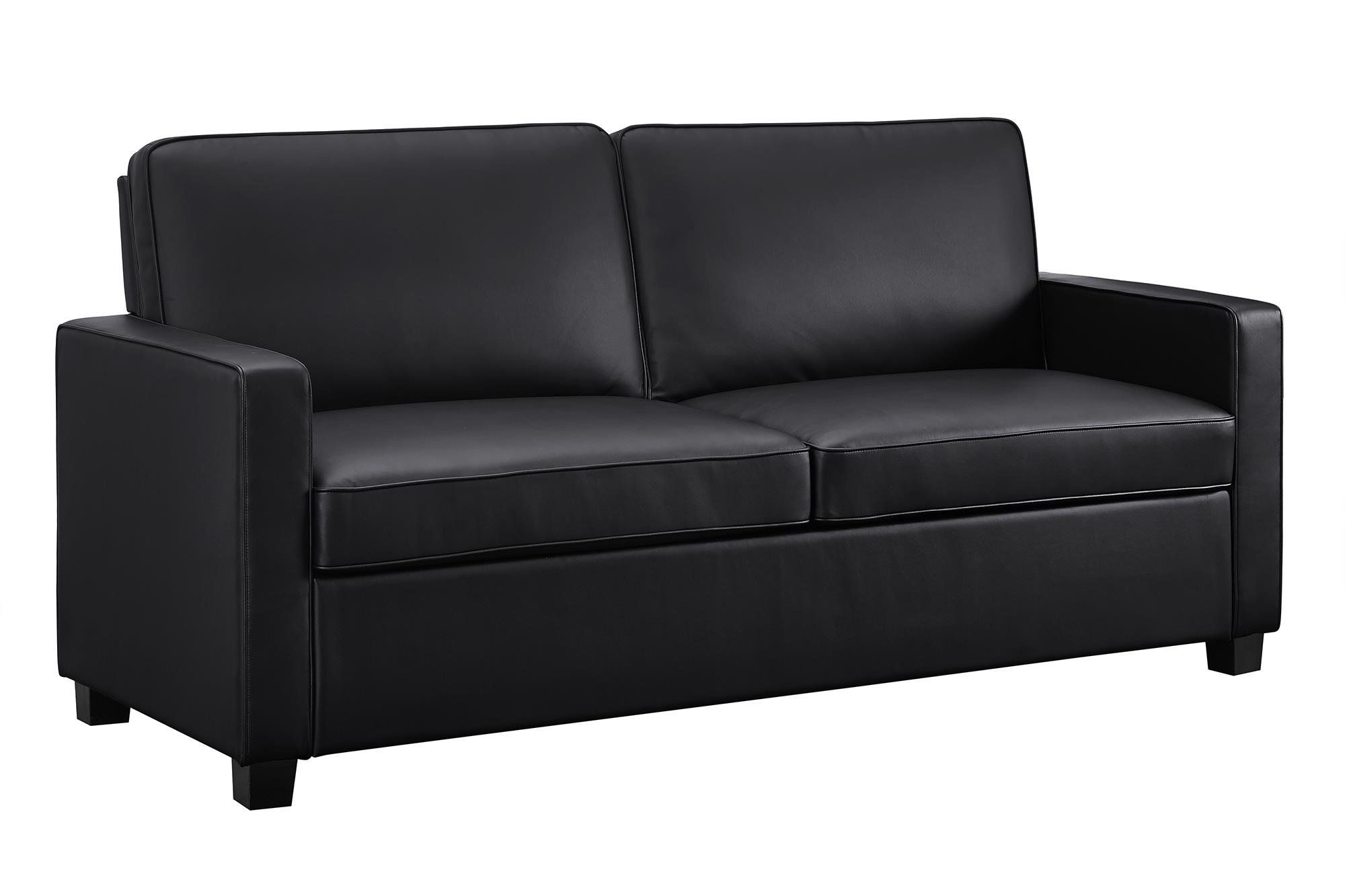 - Signature Sleep Casey Faux Leather Full Size Sleeper Sofa With