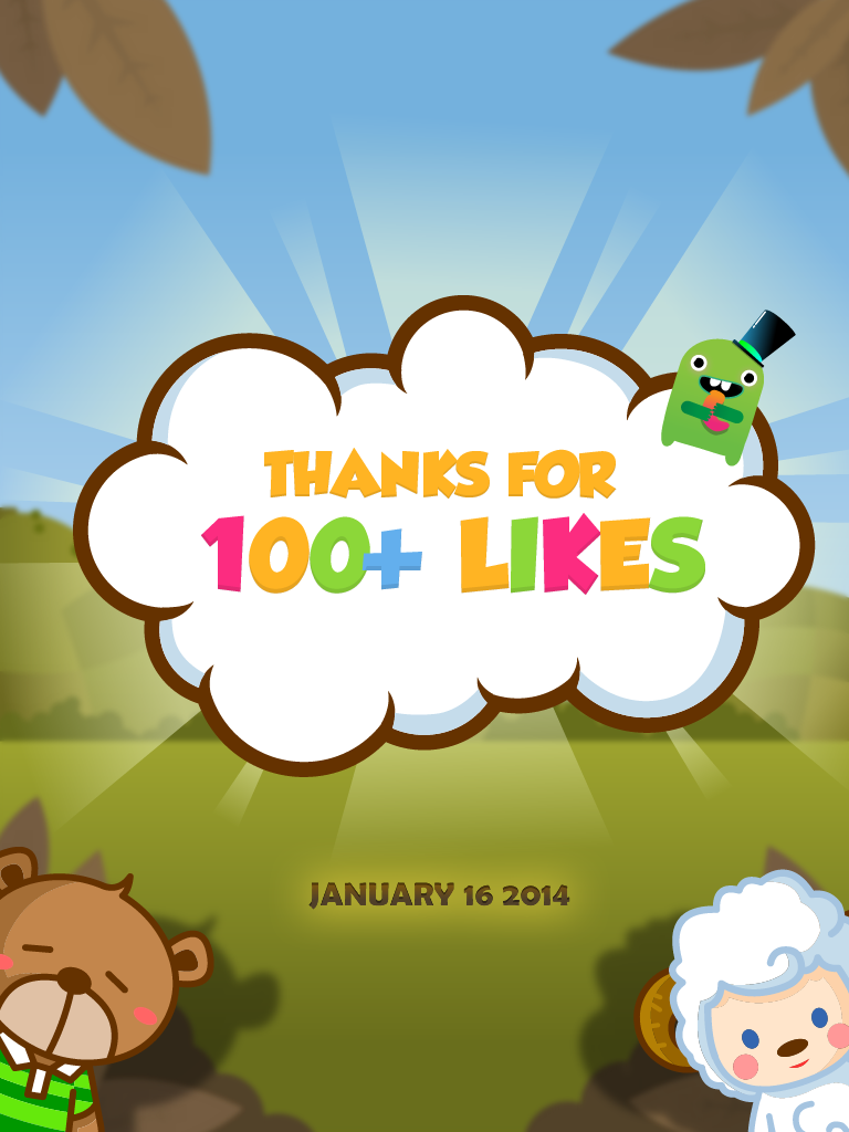 100+ Likes on Facebook..Thank for everyone