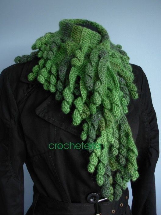 Craft it yourself centipede scarf pdf pattern by crocheteria ...