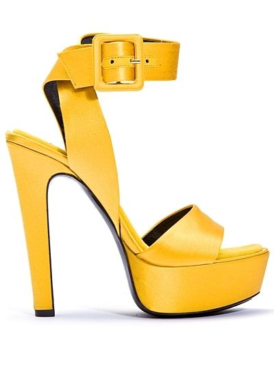 yellow shoe (Barbara Bui Spring/Summer 2011 Shoe Collection)