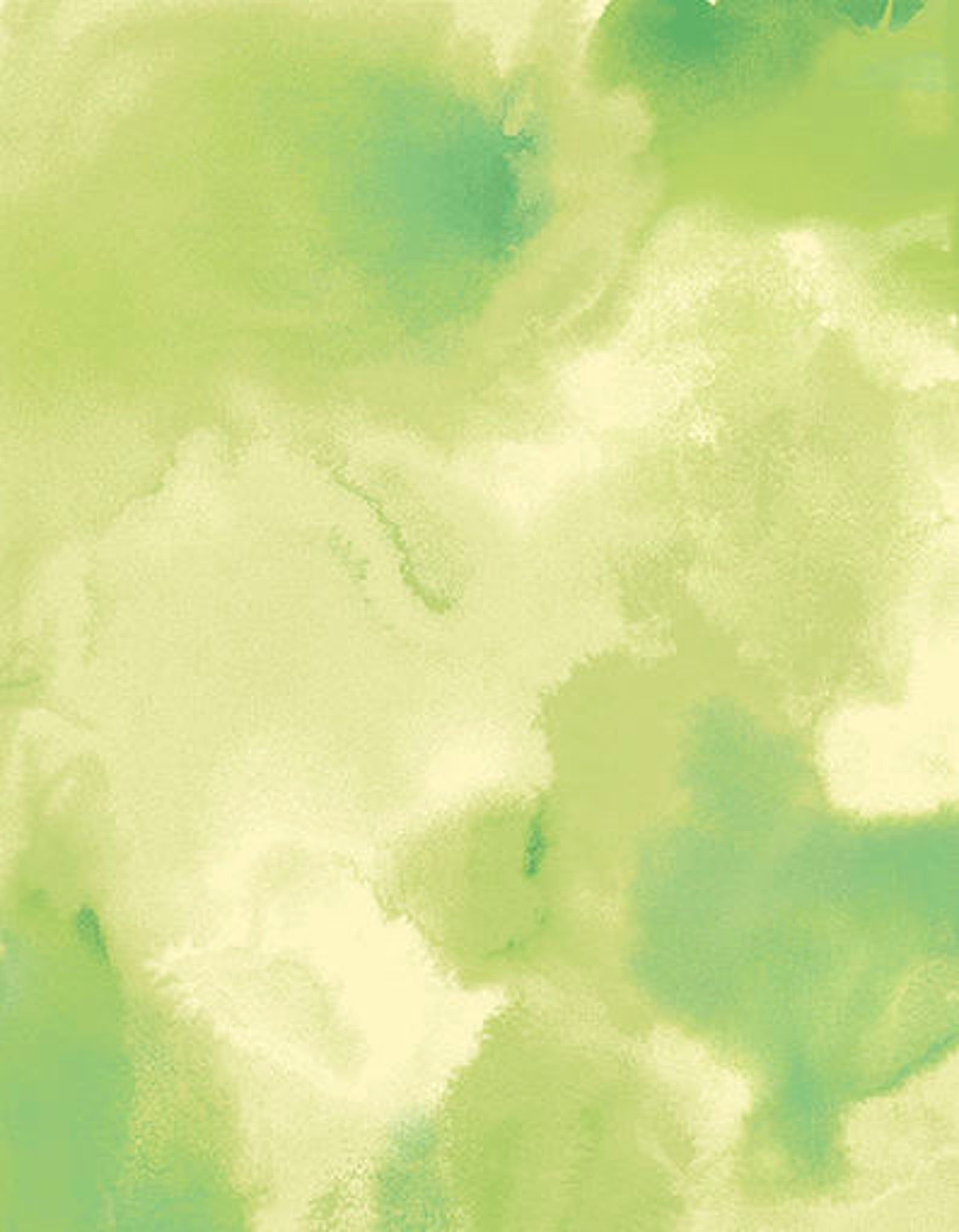 Bright Ink Light Green Watercolor Painted Paper Textured