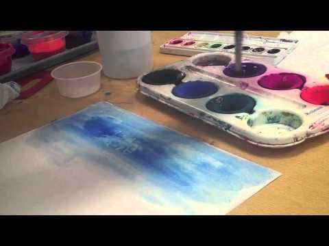 Watercolor And Tempera Paint Techniques Youtube Music