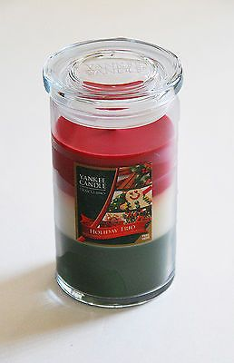 Yankee Candle Home Classics Holiday Trio 12 oz Pillar Candle - 3 in 1 Candle!