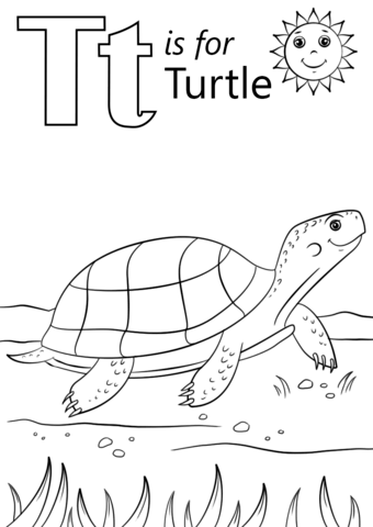 T Is For Turtle Coloring Page From Letter T Category Select From 26388 Printable Crafts Of Ca Turtle Coloring Pages Abc Coloring Pages Alphabet Coloring Pages