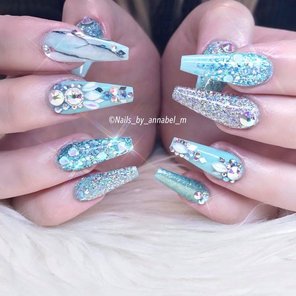 Mermaid nails or Elsa nails.. simply stunning nails from ...