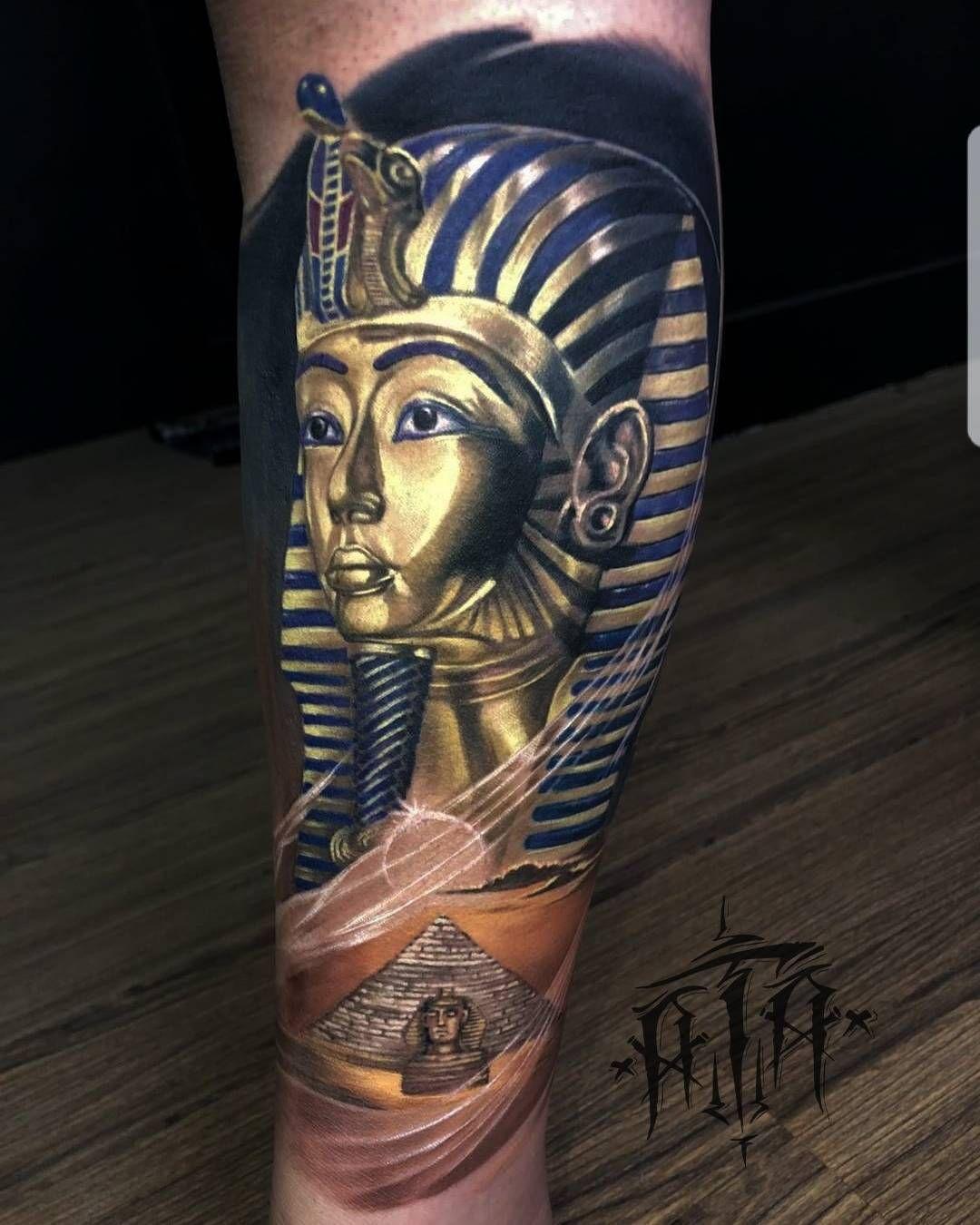 Egyptian Tattoo By Ata Ink Best Tattoos Egyptian Tattoo