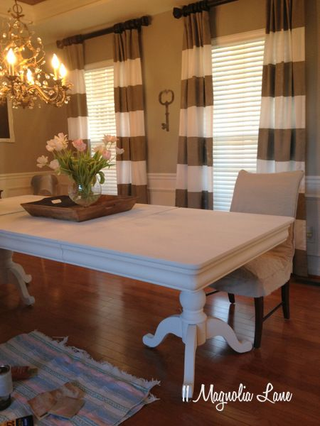 My Dining Room Table & Chairspainted White  Dining Room Table Awesome Ideas For Painting Dining Room Table And Chairs Design Ideas