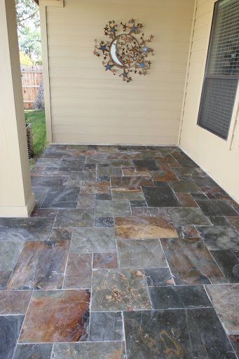 Beautiful Slate Tile On Back Patio