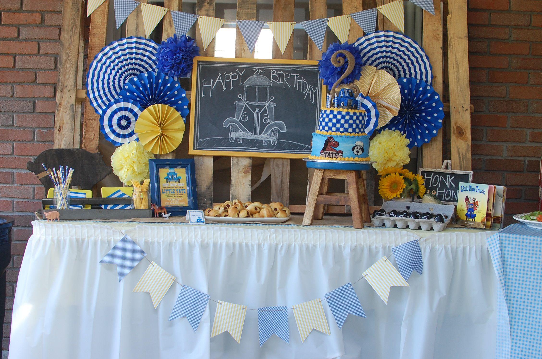 Little blue truck birthday party trucks birthday party