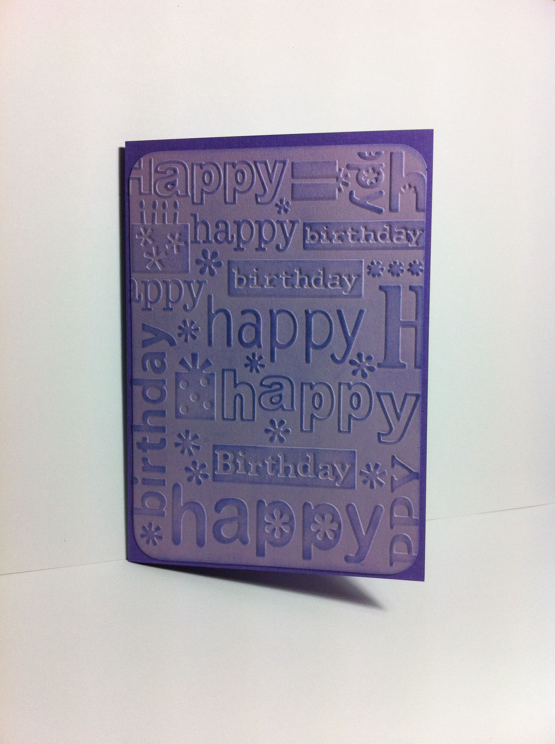 Happy birthday embossing folder embossing folder cards