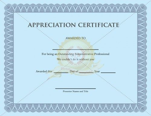 Download free or premium version no registrations for Pastor appreciation certificate template free