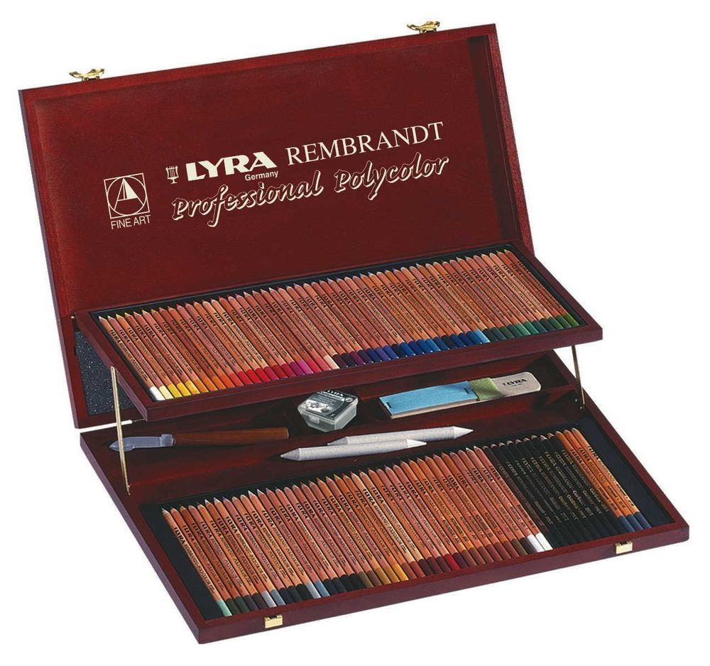 Lyra Rembrandt Polycolor Coloured Pencils 105 Pieces In Prestige