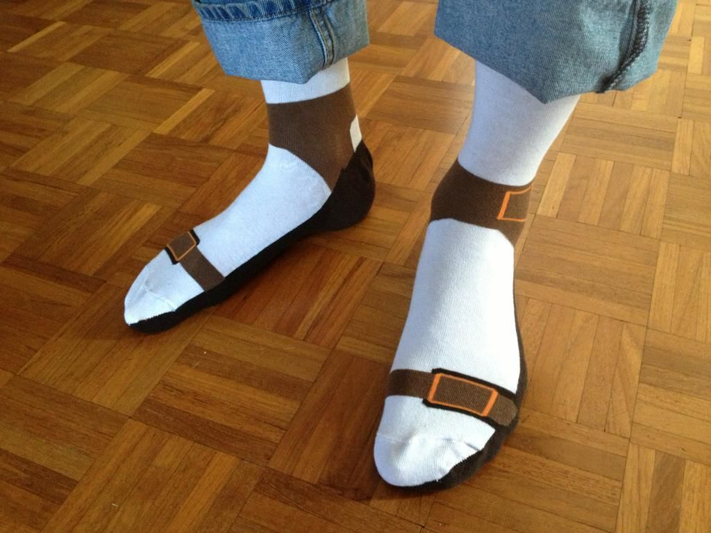 Socks AND sandals? Why not cut out the middle man?