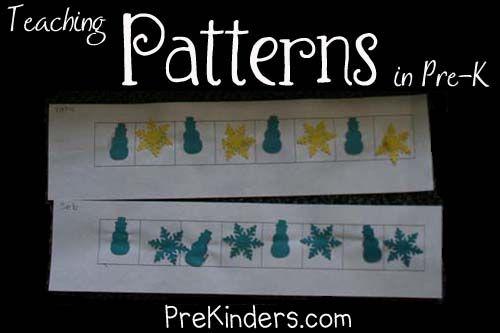 Teaching Patterns in Pre-K