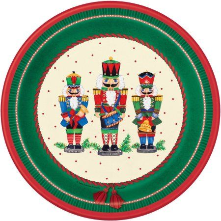 Party Occasions Christmas Dinner Plates Nutcracker Christmas Christmas Party Decorations