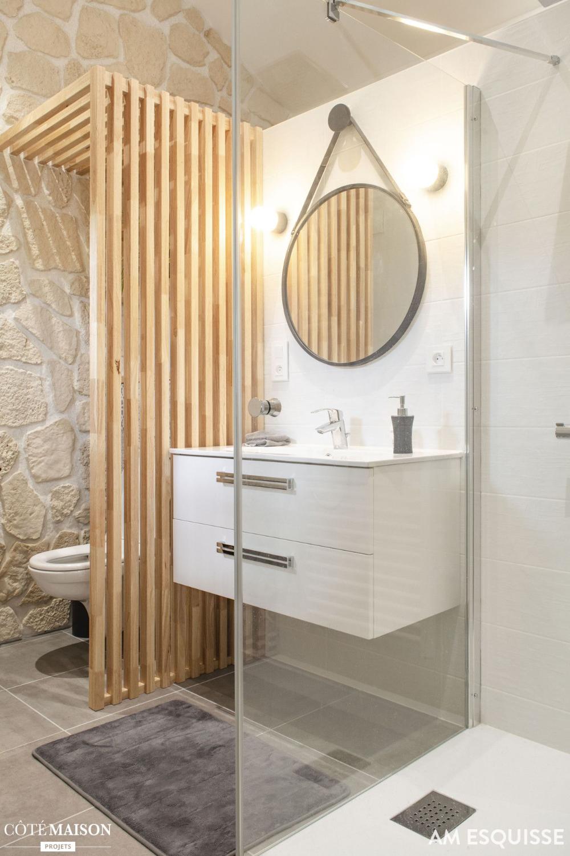 claustra salle de bain separation wc en 19  Idée salle de bain