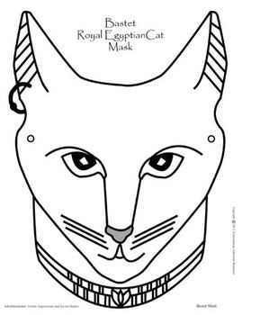 Bastet ancient egyptian cat mask subject ancient for Ancient greek mask template