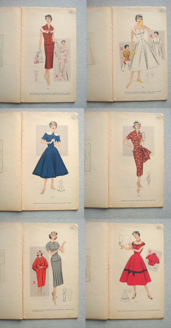 RARE vintage French MAMU catalogue with sewing patterns 1950s