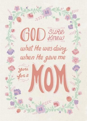 God gave me mom mothers day card flowers and fruit pinterest god gave me mom religious mothers day card m4hsunfo