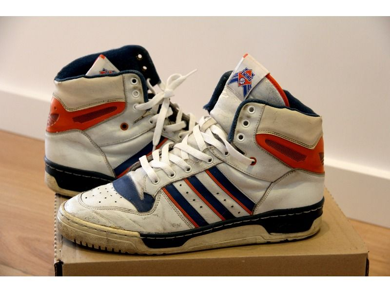 Patrick Ewing's first sneaker endorsement was in 1986 with adidas. Ewing  joined the brand the same year as Run DMC, and ., Size: Condition: in:  Adidas