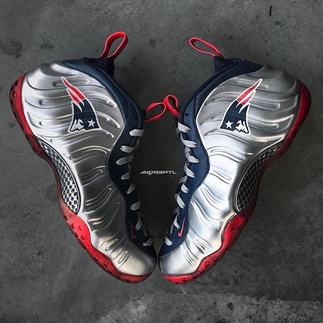 75883e3dbe1 Congrats to the  Patriots Nike Air Foamposite One Custom (Created by    andr3wtl)