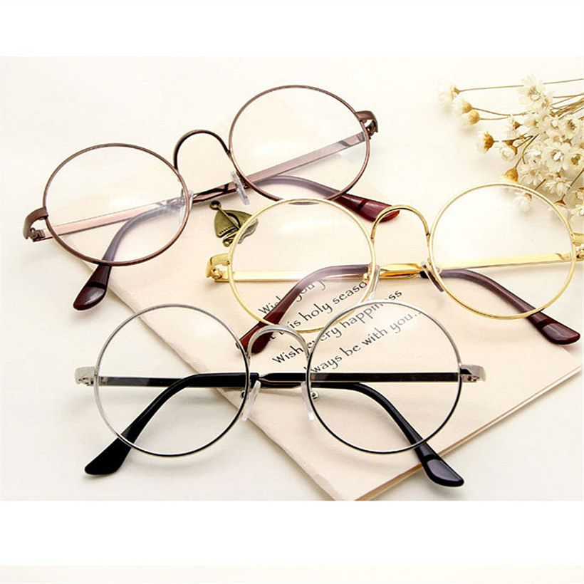 02455fcbbb Round Spectacle Glasses Frames For Harry Potter Glasses With Clear Glass  Women Men Myopia Optical Transparent