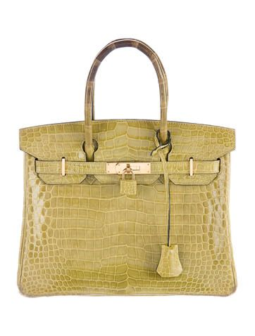 34c5f3027be2 Poudre crocodile vintage Hermès Kelly 32 with gold-tone hardware, single  flat top handle, tonal leather interior, three slit pockets at interior  wall and ...