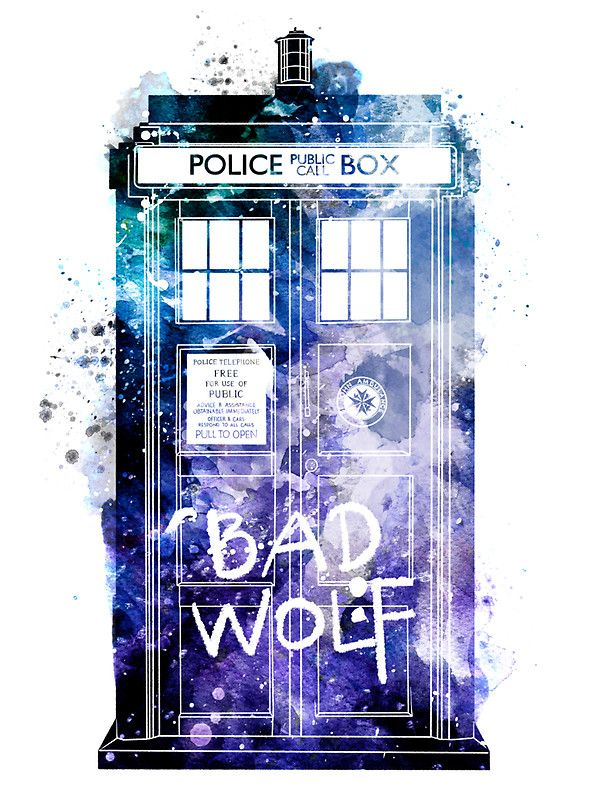 Doctor who tardis bad wolf watercolor by ploveprints doctor who doctor who tardis bad wolf watercolor by ploveprints malvernweather Gallery