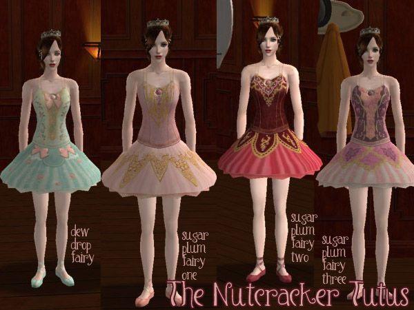 Modthesims Bell Tutus For Your Primas Swan Lake And The Nutcracker Sims 4 Tutu Ballet Clothes